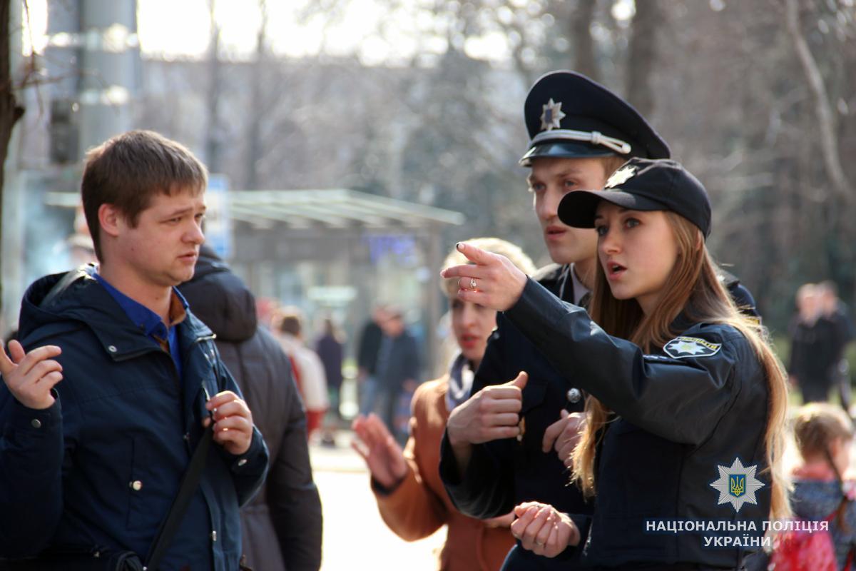 Полиция обеспечивала порядок на массовых мероприятиях в Пасху / Национальная полиция Украины