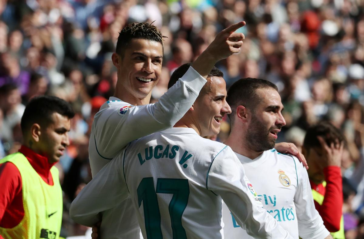 Криштиану Роналду забил гол в мадридском дерби / REUTERS