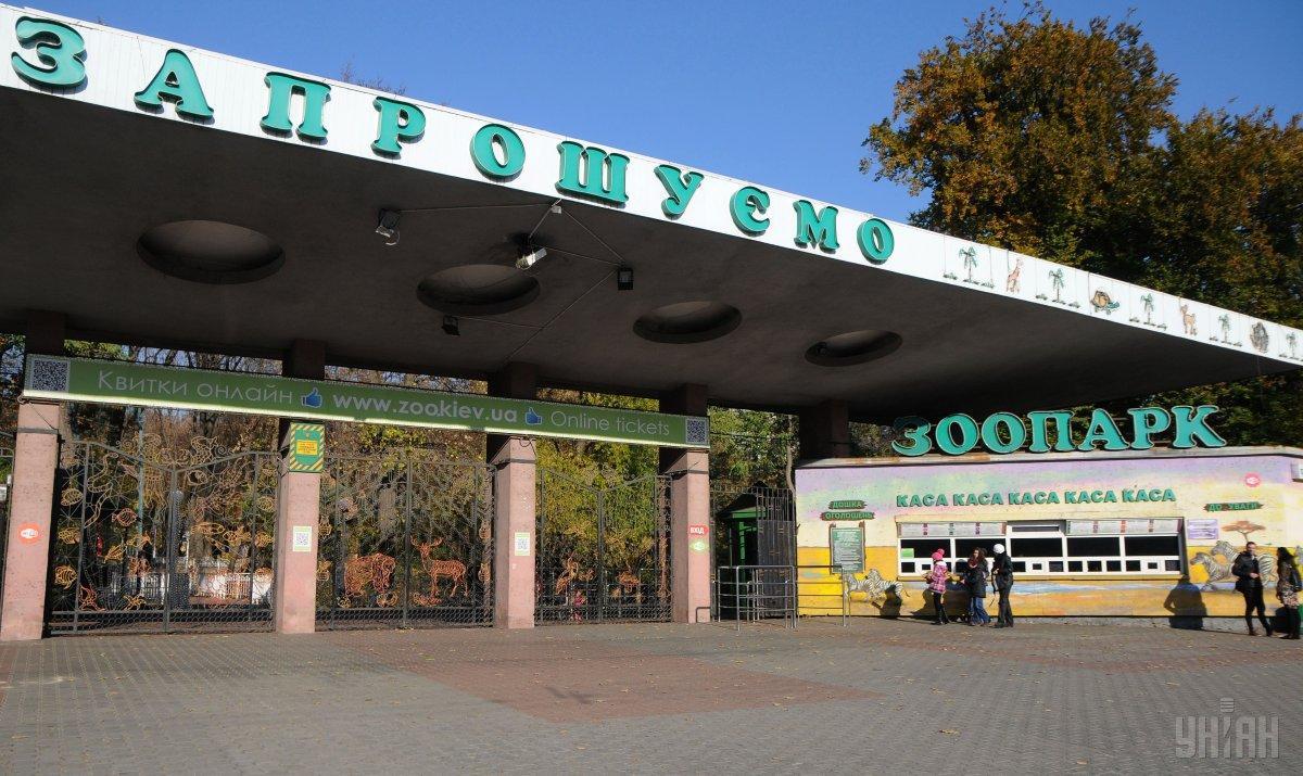 Старый вход в зоопарк, по словам мэра, будет закрыт/ фото УНИАН