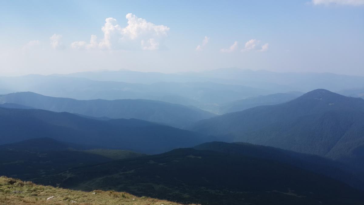 Вид с вершины Говерлы / фото Марина Григоренко
