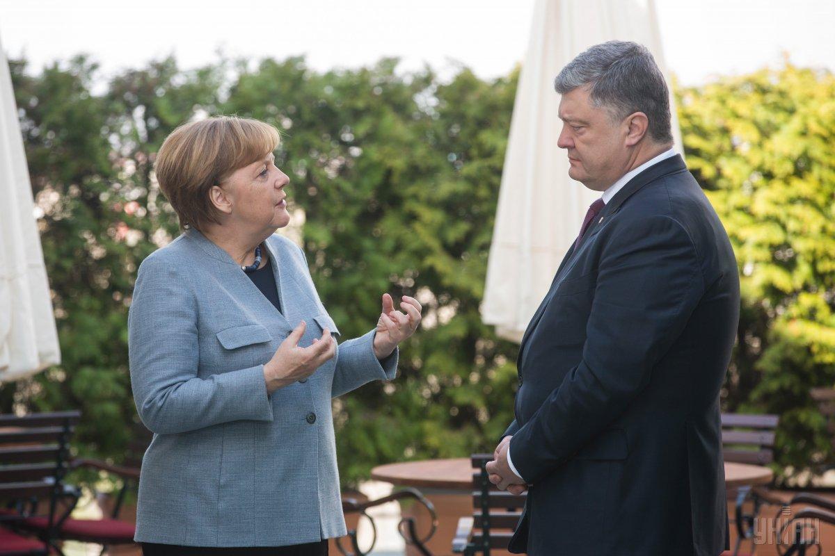 Петро Порошенко і Ангела Меркель / фото УНІАН
