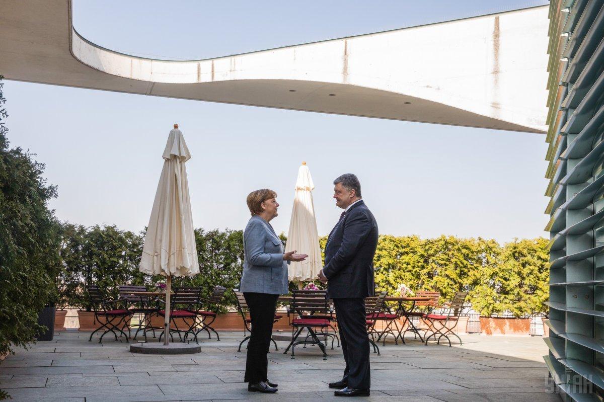 Петр Порошенко и Ангела Меркель / фото УНИАН