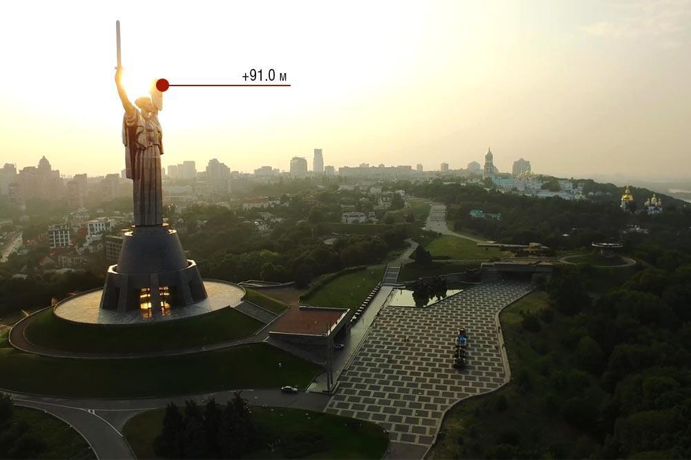 Вид з оглядового майданчика / фото warmuseum.kiev.ua
