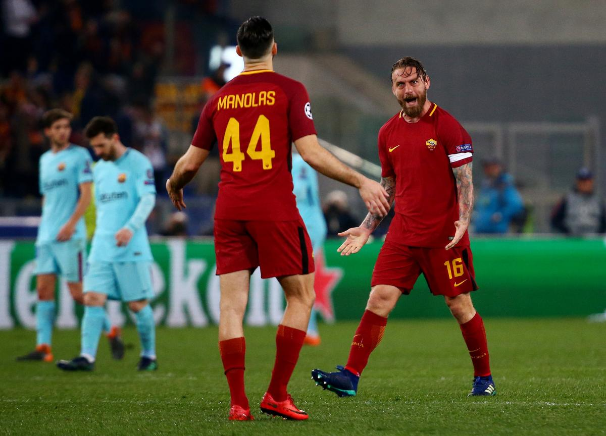"""Рома"" разбила ""Барселону"" и вышла в четвертьфинал / Reuters"