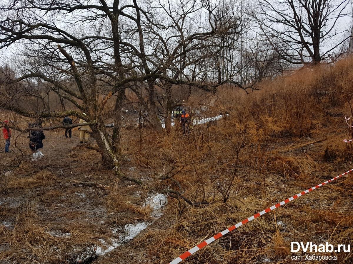 В центре Хабаровска рухнул вертолет / фото dvnovosti.ru