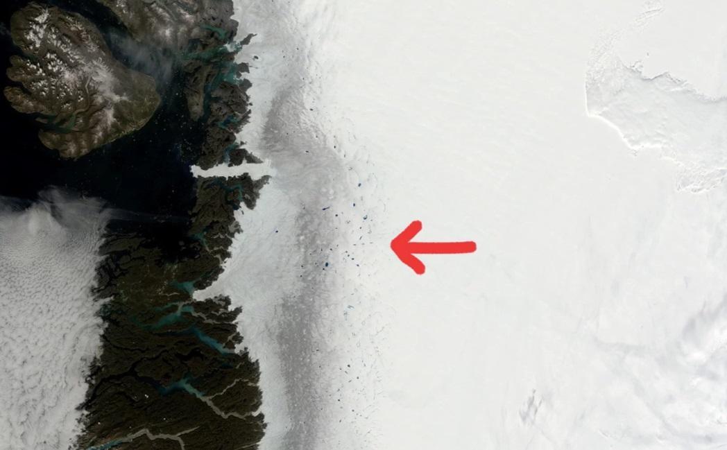 """""""Темная"""" зона стремительно расширяется / фото NASA"""