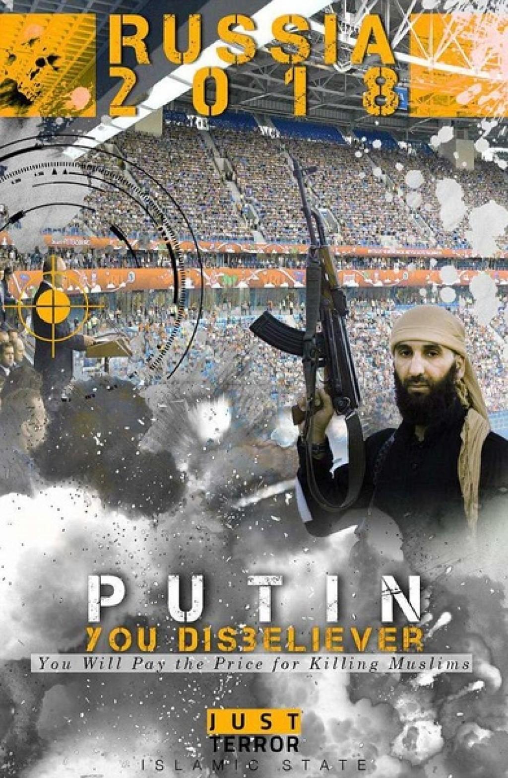 """На одном из плакатов написано """"Путин, ты неверный. Ты заплатишь за убийство мусульман"""" / фото jamehnews.com"""