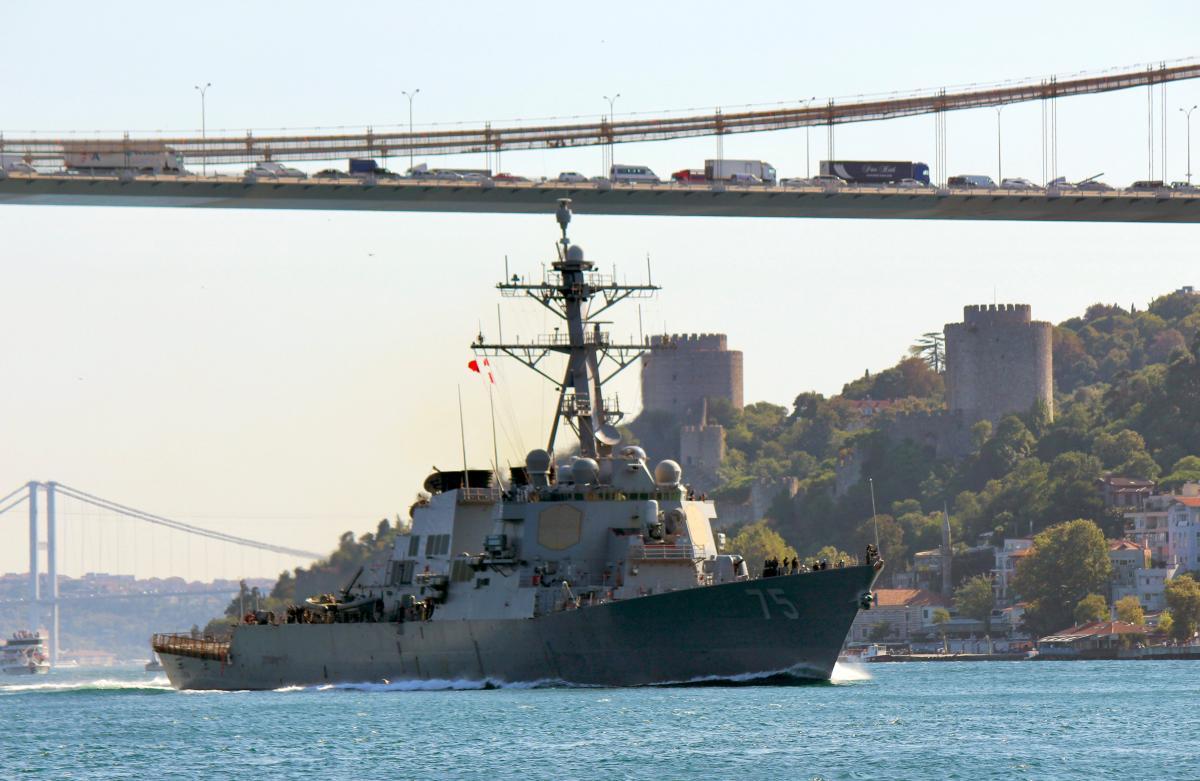 Эсминец США Donald Cook в Стамбуле / REUTERS