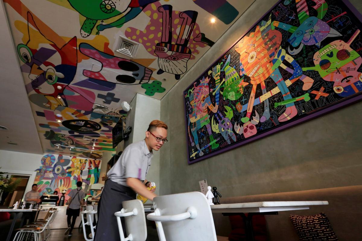 The Artotel, оформлен современным художником Эдди Хара, в Джакарте (Индонезия) / Фото REUTERS