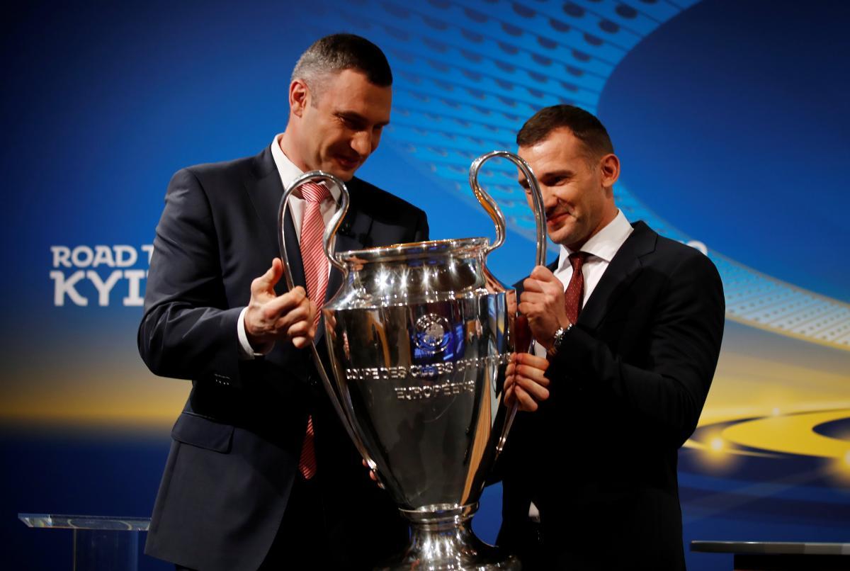 Кубок чемпионов передан на хранение украинской столице / REUTERS