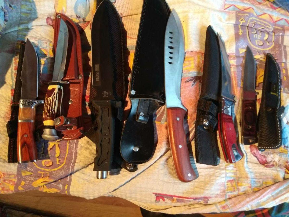 У преступников изъято холодное оружие/ фото kobl.gp.gov.ua