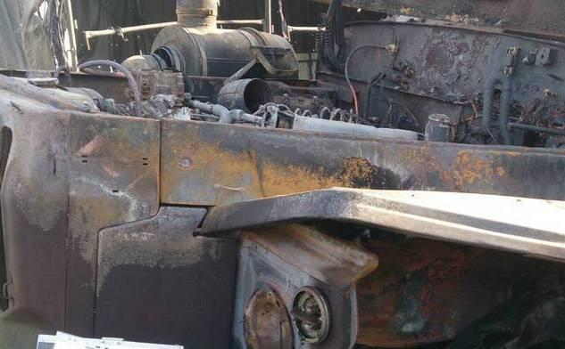 Террористы сообщают о поврежденной технике / фото сайт боевиков