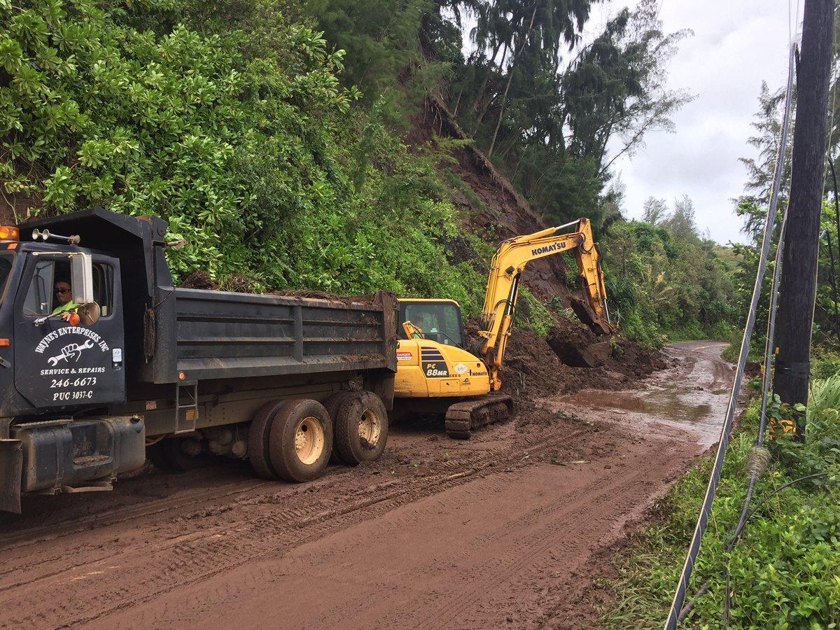 Последствия наводнения на Гавайях / twitter.com/DOTHawaii