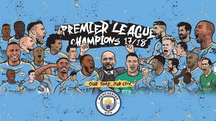 """""""Манчестер Сити"""" подготовил оригинальные постеры, посвященные завоеванию золотых медалей в АПЛ / mancity.com"""