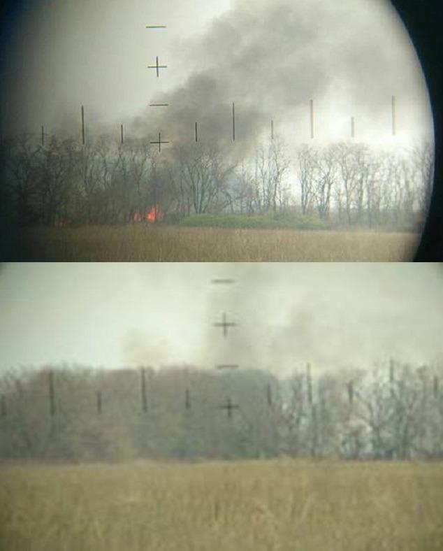 Знищена позиція бойовиків / фото facebook.com/ryabokon.maxim