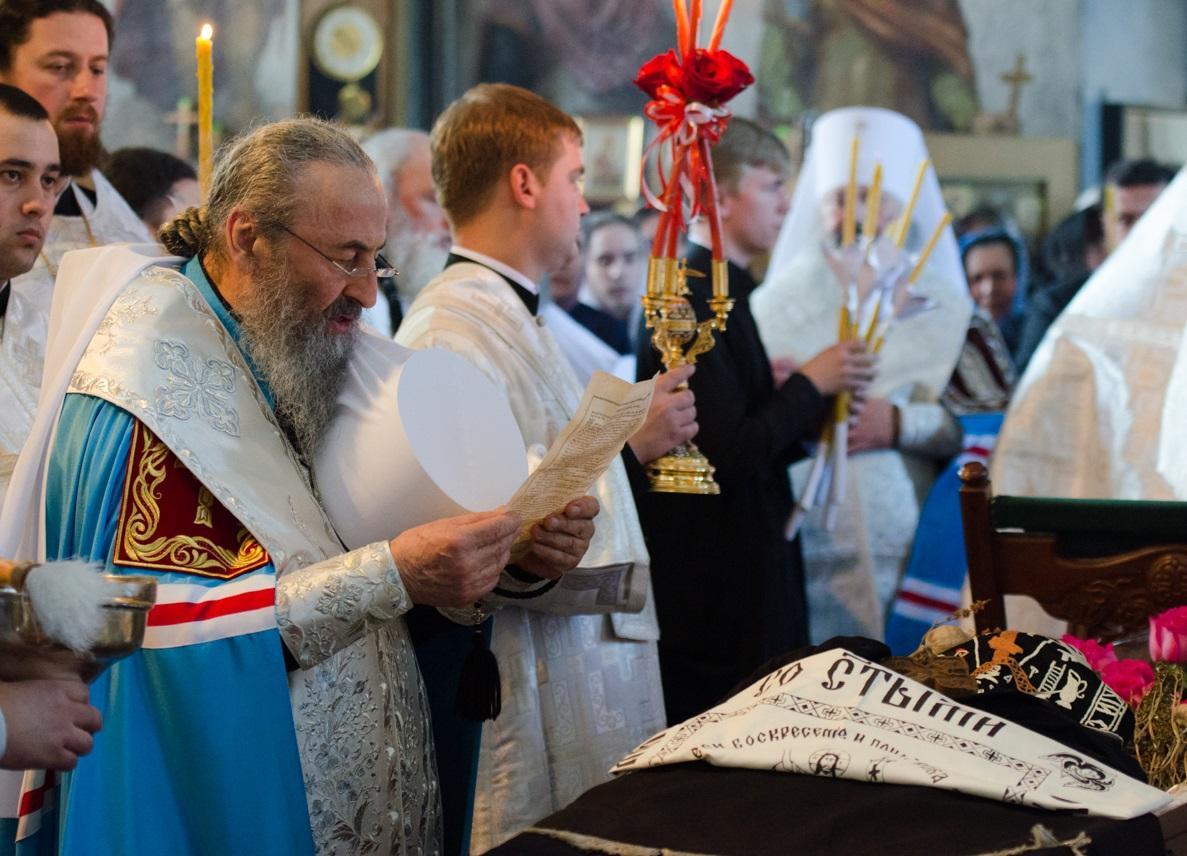 Предстоятель возглавил чин отпевания настоятельницы Флоровской обители / news.church.ua