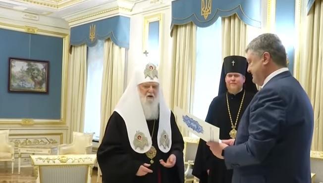 Порошенко зустрівся із керівниками православних церков / скріншот відео ТСН