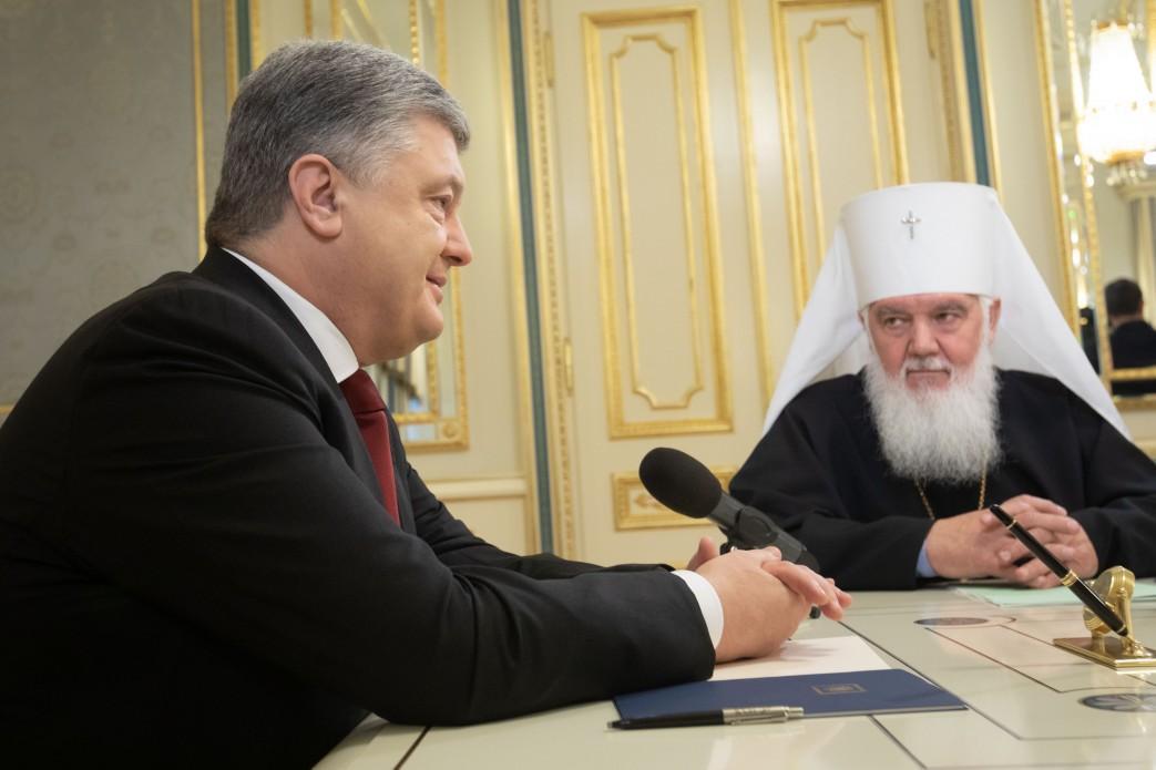 Порошенко провів зустріч з предстоятелем / УАПЦ president.gov.ua