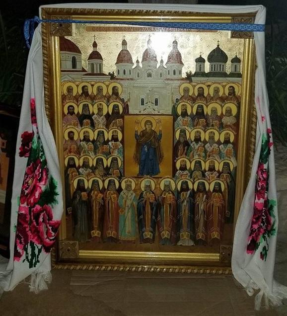 Ікона була написана спеціально для хресної ходи «Дорогою Господа з молитвою за Україну» / Анна Горпинченко