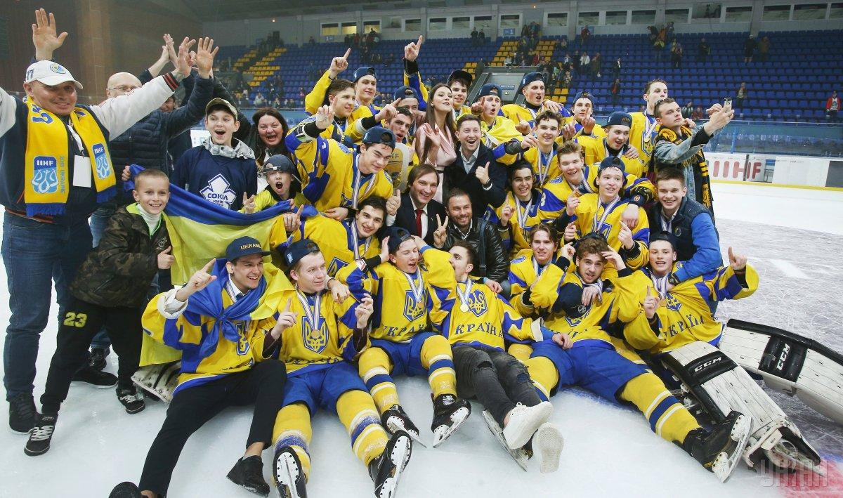 Юниорская сборная Украины выиграла домашний ЧМ по хокею / фото УНИАН