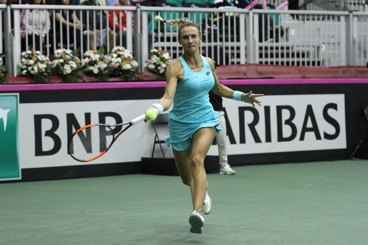 Леся Цуренко вышла во второй круг турнира в Цинциннати / fedcup.com
