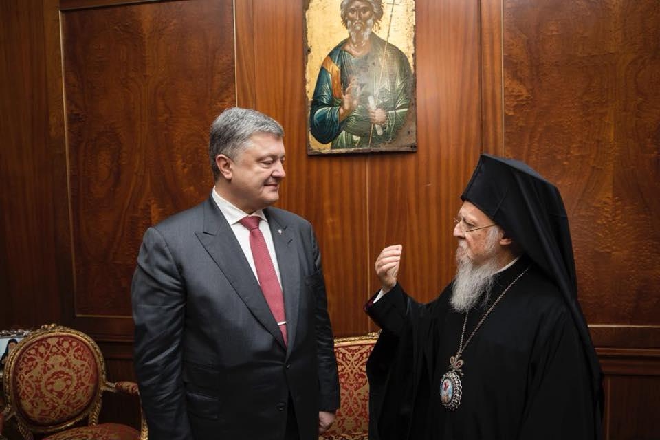Конфликт Москвы с Афинами может помочь Киеву получить религиозную независимость / Петр Порошенко в Facebook