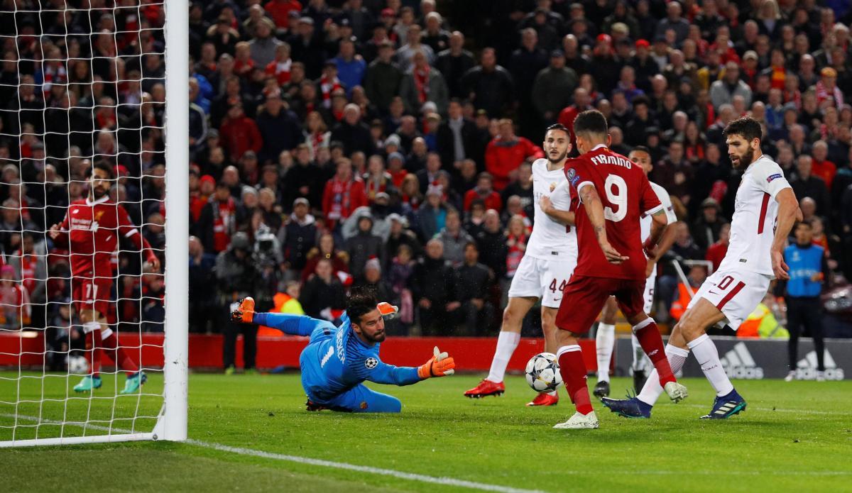 Ливерпуль и Рома установили ряд рекордов ЛЧ для одного матча / Reuters