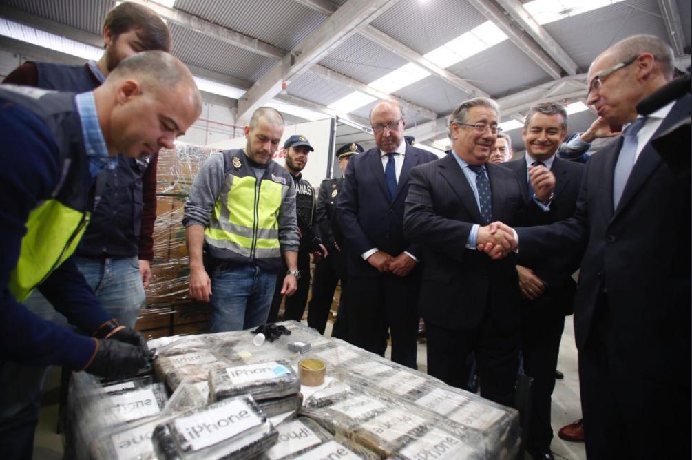 ВИспании вбананах отыскали рекордные практически 9 тонн кокаина