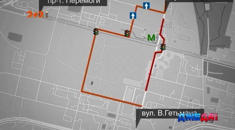 Після початку ремонту Шулявського мосту рух транспорту буде здійснюватись по-новому / Скриншот. - ДжеДаІ