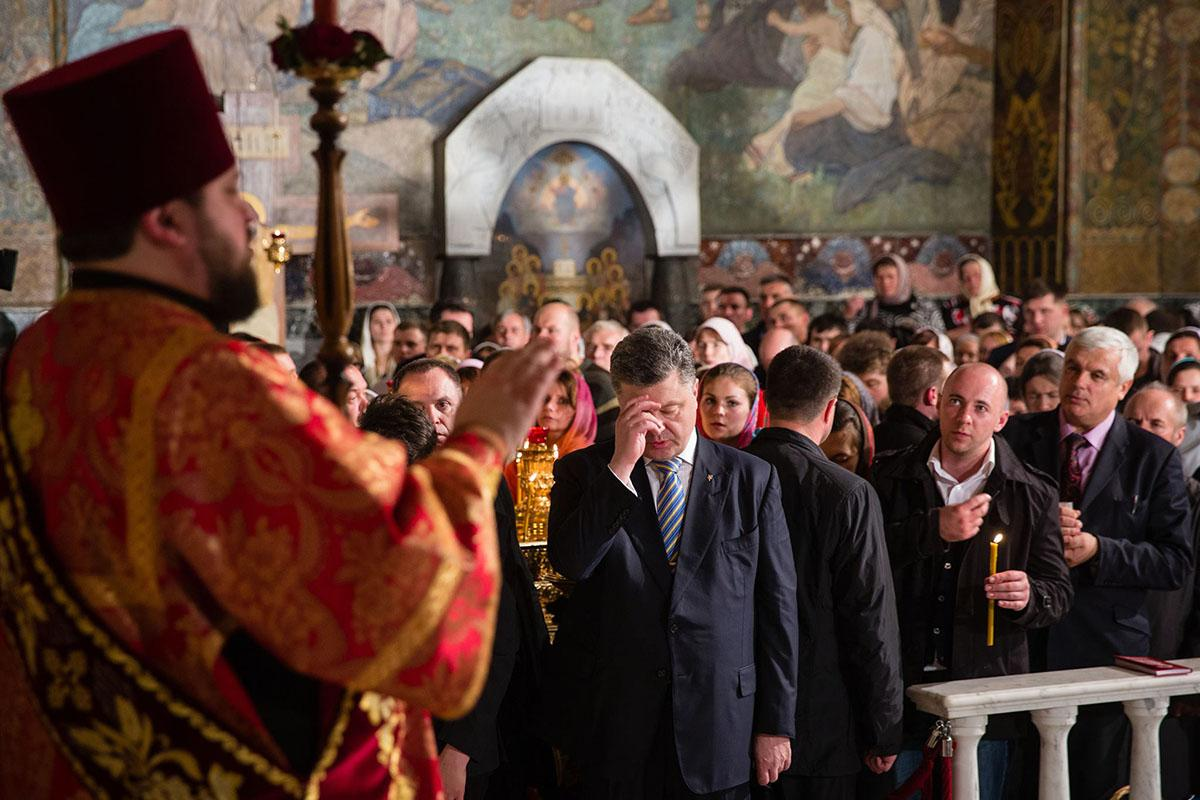 Как власть относится к Церкви, иллюстративное фото / facebook.com/petroporoshenko