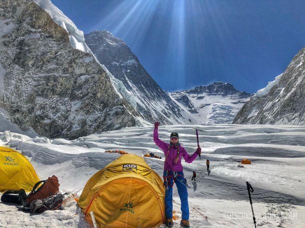Українка Ірина Галай пройшла один з найбільш небезпечних ледопадов на планеті / klitschko-brothers.com