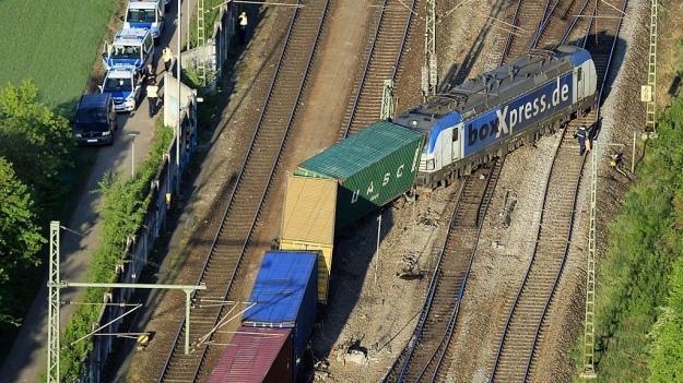 Поезд сошел срельсов в германском  Мюнхене