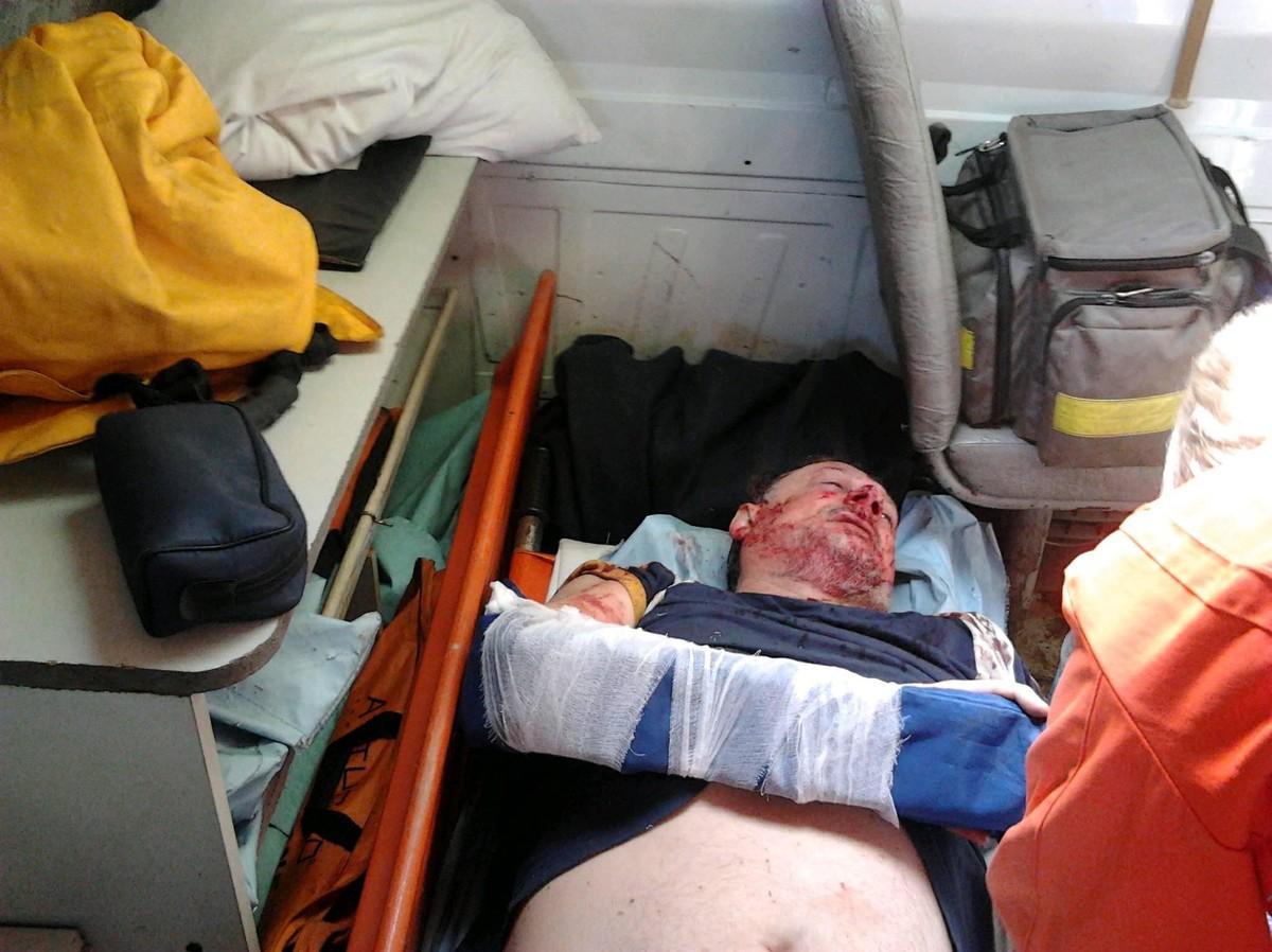 ВУкраинском государстве избили соратника Саакашвили 02:03