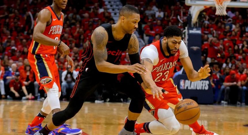 """""""Новый Орлеан"""" выиграл все четыре матча серии у """"Портленда"""" в плей-офф НБА"""