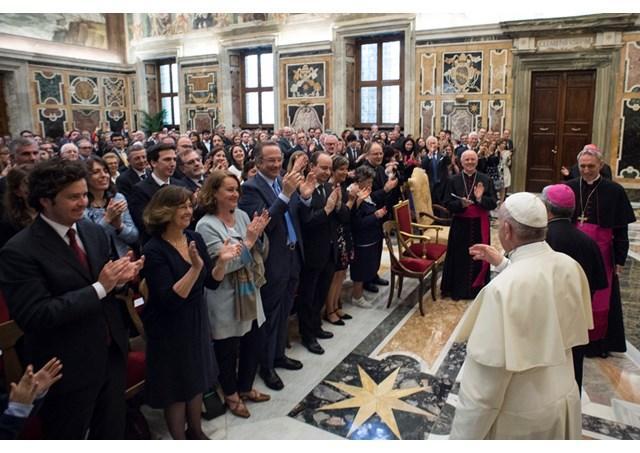 Папа принял работников католического итальянского издания «Avvenire» / uk.radiovaticana.va