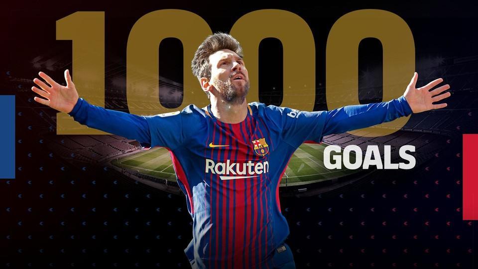 Лионель Месси забил 1000 голов за карьеру / fcbarcelona.com