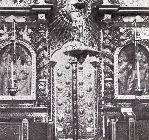 Фрагмент иконостаса Успенского собора. XVIII в. (Не сохранился) / alyoshin.ru