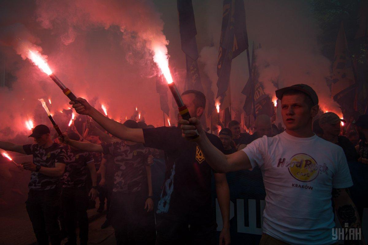 Вучастников «Марша украинского порядка» хотели бросить гранату