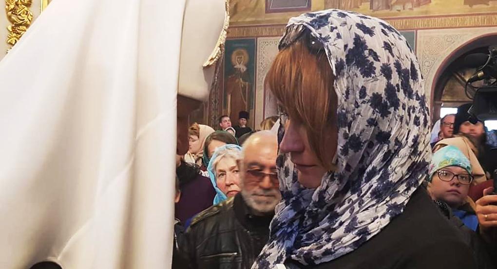 После панихиды Патриарх общалсяс каждым родственником погибших / foma.ru