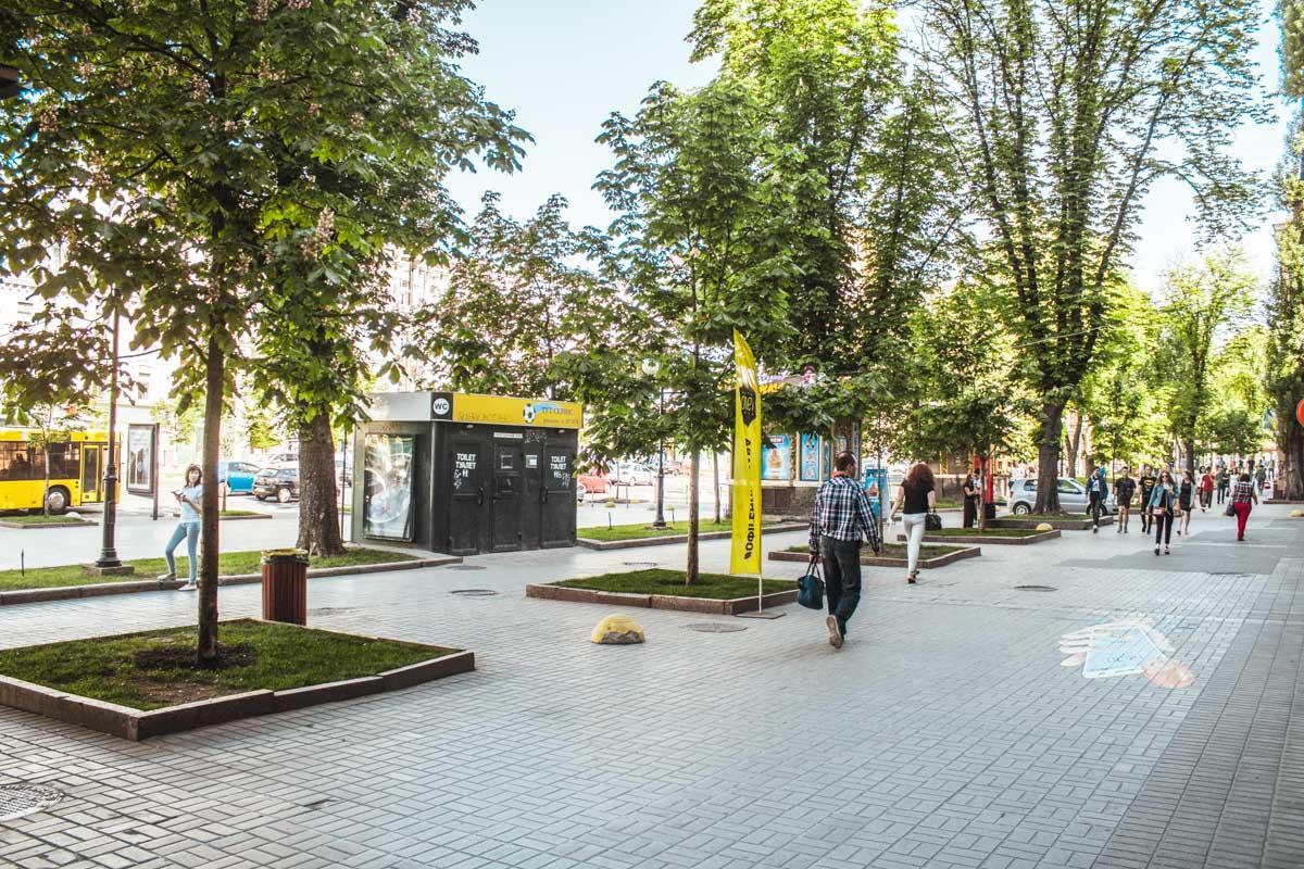 Вцентре столицы Украины пропали все скамейки