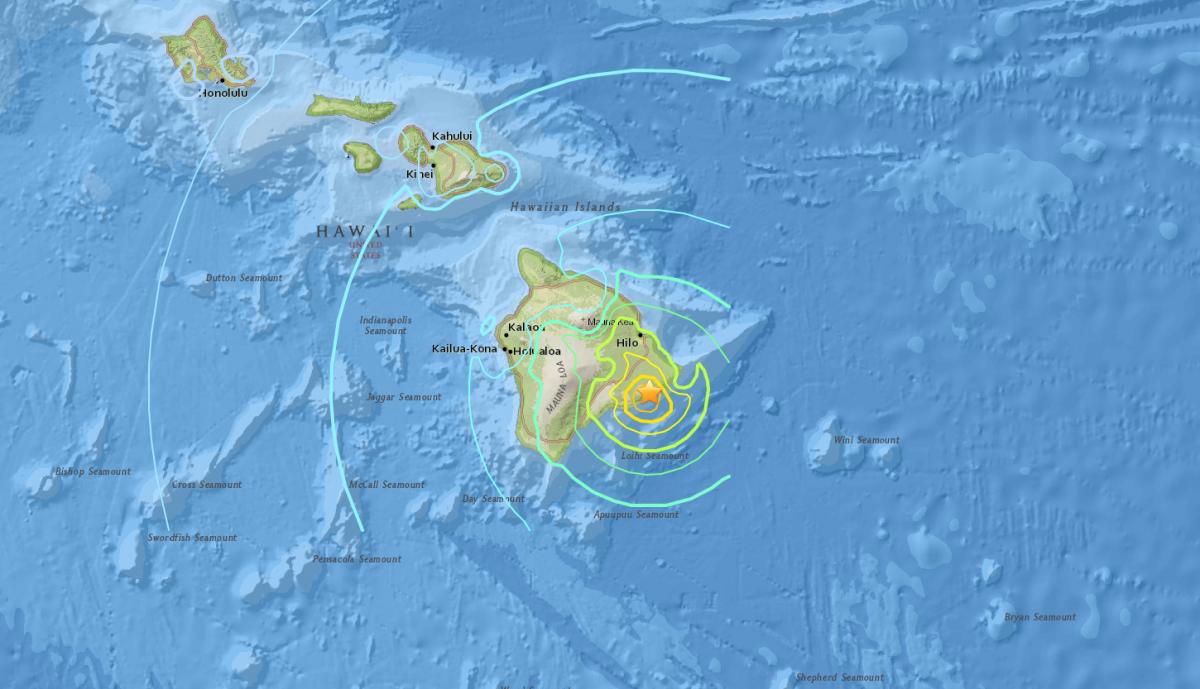 На Гававях стався потужний землетрус / earthquake.usgs.gov