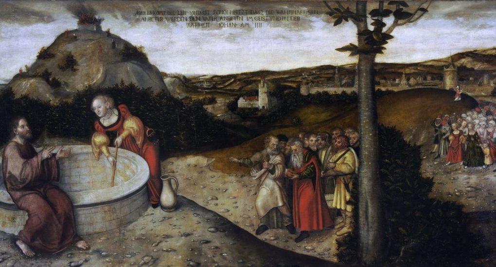 Лукас Кранах Старший «Христос и самаритянка у колодца», ок. 1552-1588. Фрагмент./ foma.in.ua