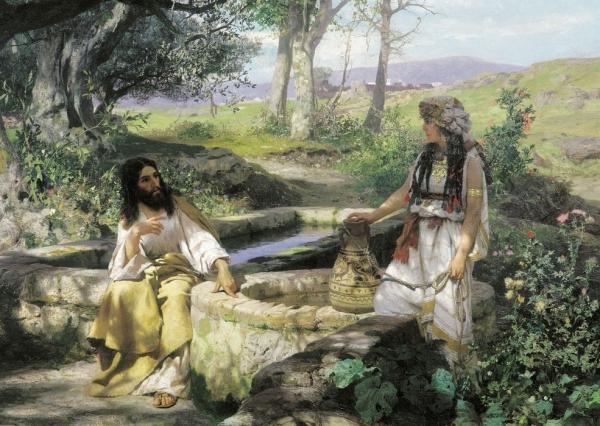 Г. Семирадский «Христос и самарянка», 1890 г. / foma.in.ua
