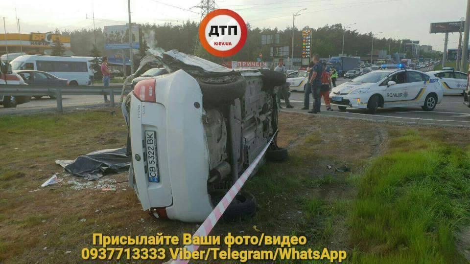 ВКиеве врезультате смертельного ДТП погиб пассажир такси
