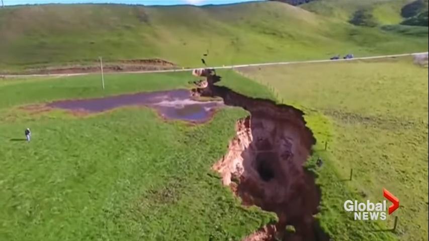 Слідом за Африкою величезний розлом сформувався в Новій Зеландії / скріншот відео
