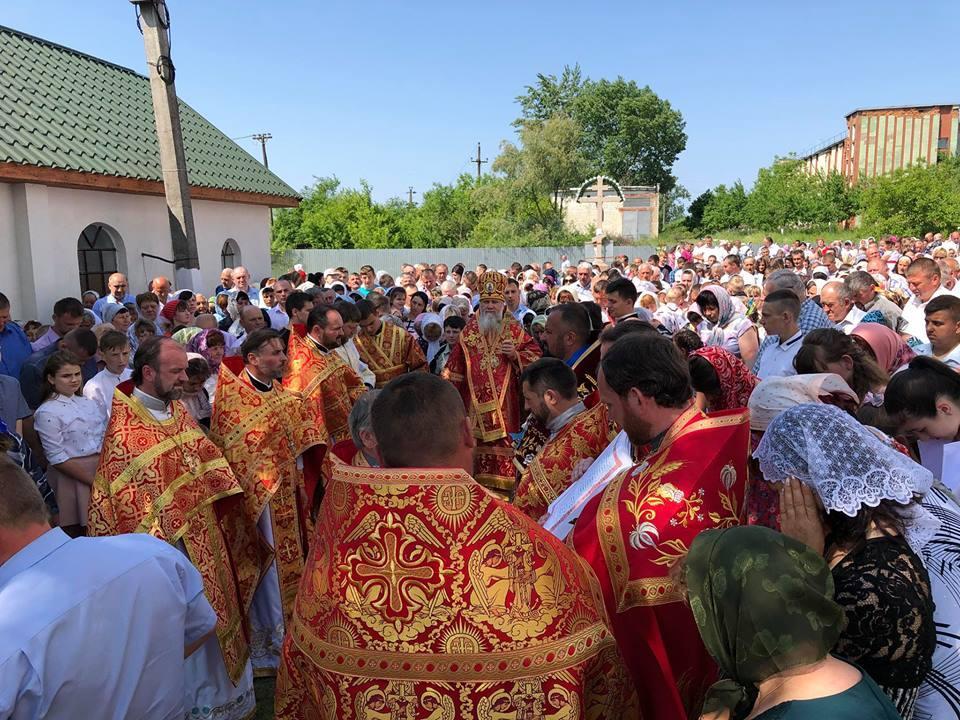 Архипастырь совершил чин освящения нового престола и храма / m-church.org.ua