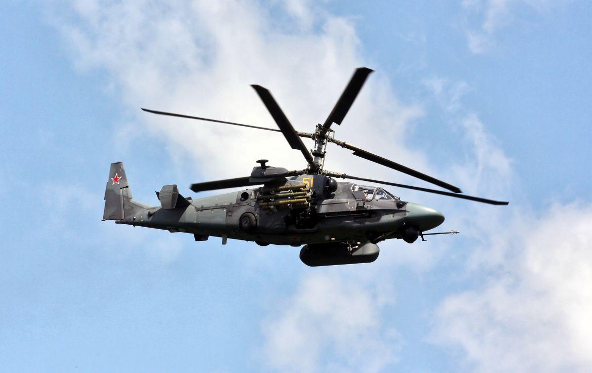 Two Ka-52 attack helicopters have been scrambled / Photo from Vitaly V. Kuzmin / wikipedia.org