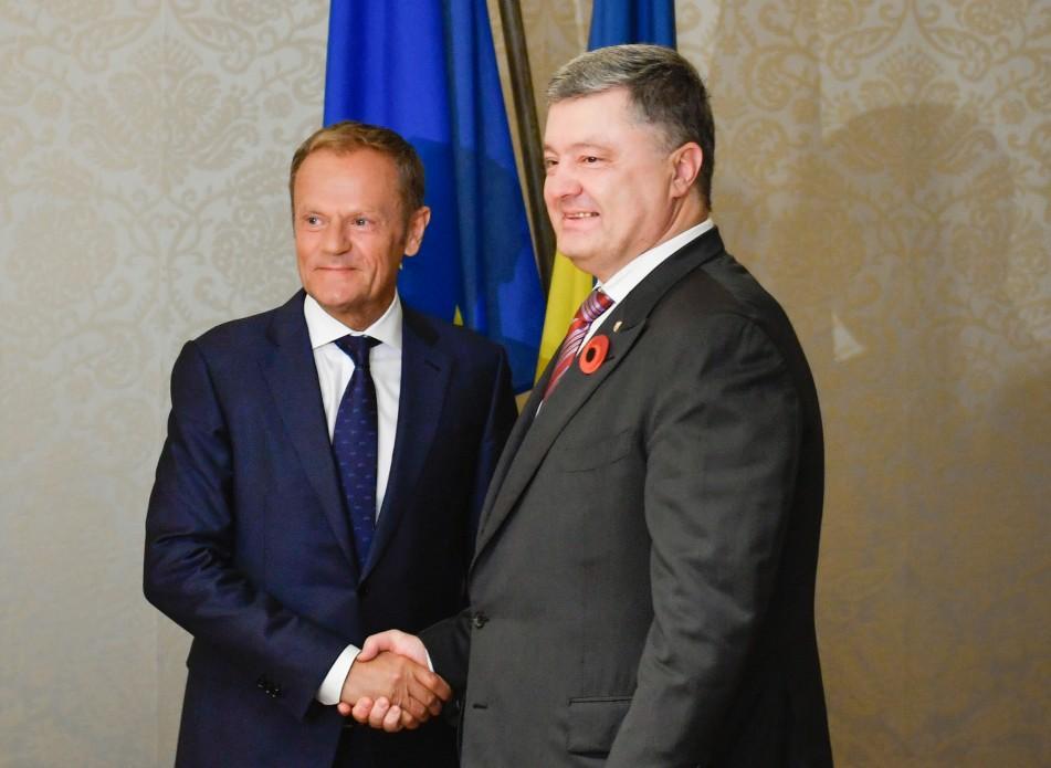Порошенко и Туск договорились о дате саммита Украина-ЕС / фото president.gov.ua