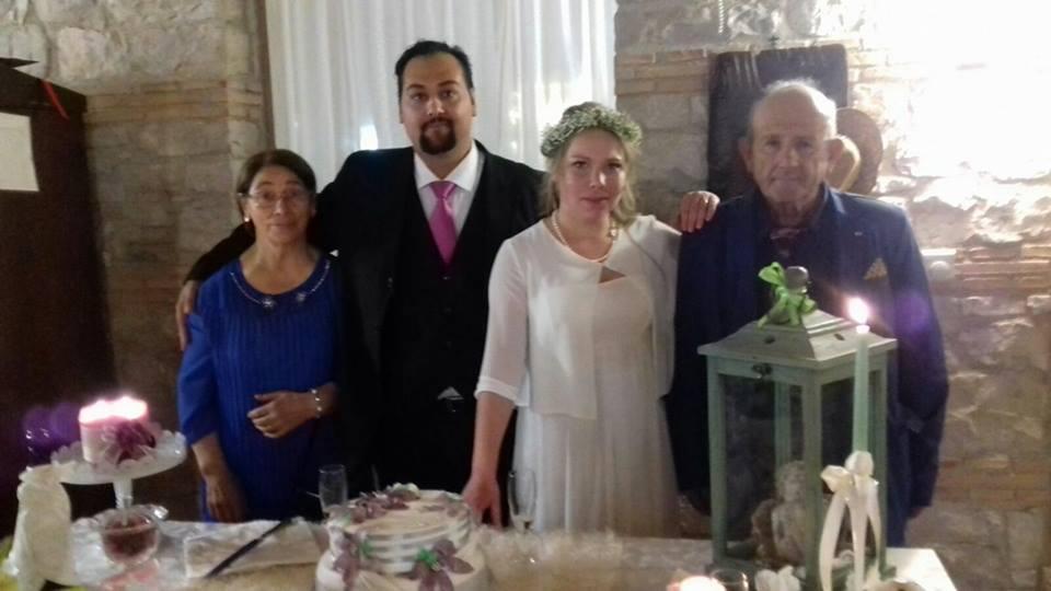 Свадебное фото Антонио Жирарди и Марины Новожиловой / фото Информатор
