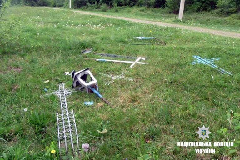 Чоловік виривав хрести з могил / Національна поліція України